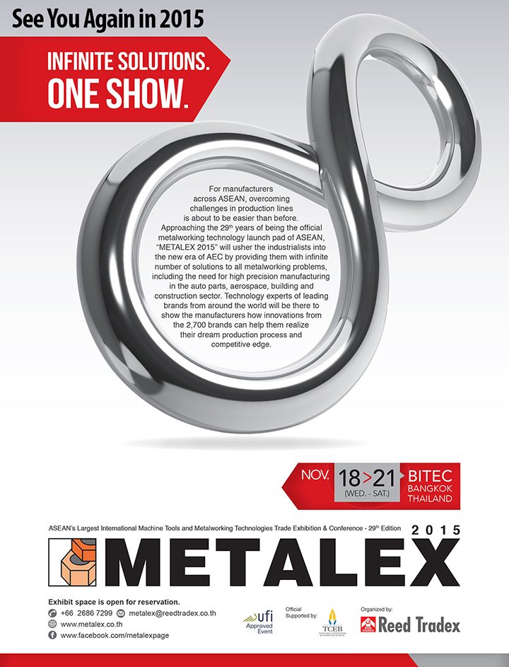 Metalex 2015 between 18-21 November